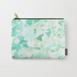 Green Ombre Triangles Carry-All Pouch