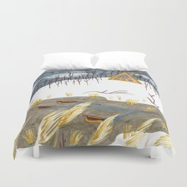 A-Frame Home in the Woods Duvet Cover