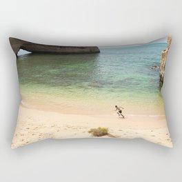 Run on the beach Rectangular Pillow