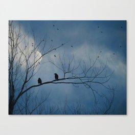 Moody Blue Sky Canvas Print