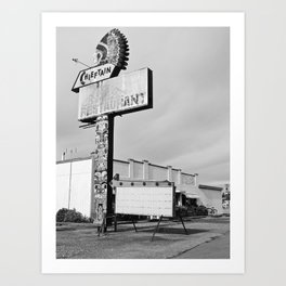 Once a diner Art Print