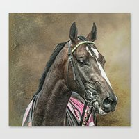 racing Canvas Prints featuring Racing Thoroughbred by tarrby/Brian Tarr