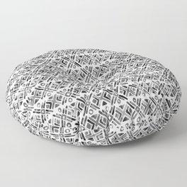 Sonoran Stripe - Black&White Floor Pillow