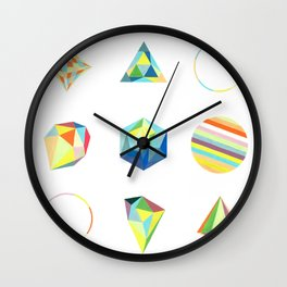 geometry composition Wall Clock
