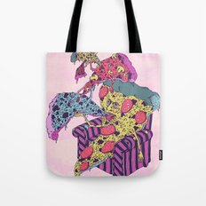 Pizza Eating Pizza - Pink Edition Tote Bag