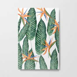 Banana And Flowers #society6 Metal Print