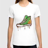 sneaker T-shirts featuring Green Sneaker by ArievSoeharto
