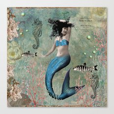 Sea Blue Mermaid Canvas Print