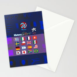 History of the World Cups Book Cover Stationery Cards