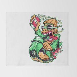 GREEN - Scooter Throw Blanket