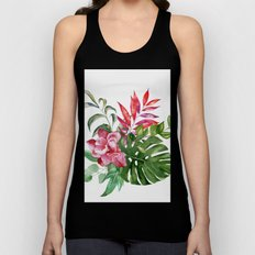 Flower and Leaves 1 Unisex Tank Top