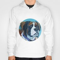 nori Hoodies featuring Nori the Therapy Boxer by Barking Dog Creations Studio