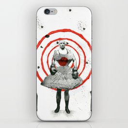 Woman with stones iPhone Skin