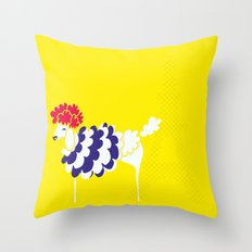 French Poodle Throw Pillow