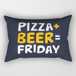Pizza + beer = Friday Rectangular Pillow