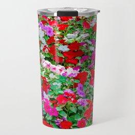 Colorful Petunia Flowers Travel Mug