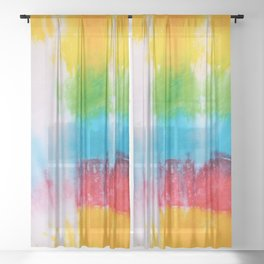 tye dye 9 Sheer Curtain