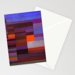 Paul Klee Fire In The Evening Colorful Abstract Art Stationery Cards
