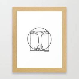 Vitruviancat Framed Art Print