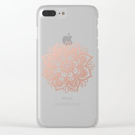 Rose Gold Mandala Clear iPhone Case