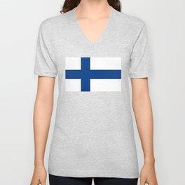 National flag of Finland Unisex V-Neck