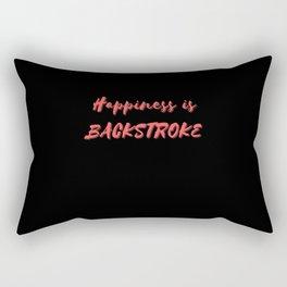 Happiness is Backstroke Rectangular Pillow