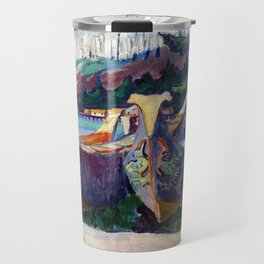 Emily Carr First Nations War Canoes in Alert Bay Travel Mug