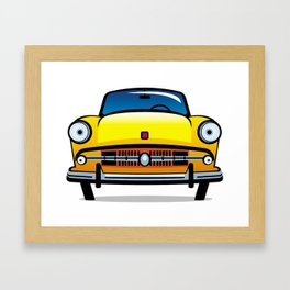 Vintage yellow car Framed Art Print