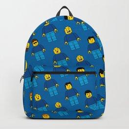 Building Blocks People, Blue Brick Characters Backpack