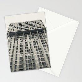 Velasca Tower, Milan skyscraper, black & white photography, Milano, Lombardia Stationery Cards