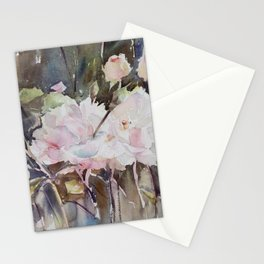 Rose Garden with Sepia Stationery Cards