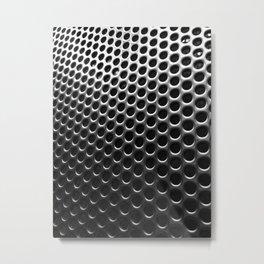 Stainless Steel Circles with Black Metal Print