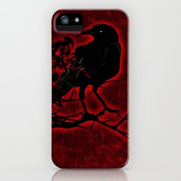 The Red Raven iPhone Case