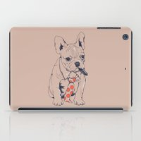 french iPad Cases featuring FRENCH BULLDOG BOSS by Huebucket