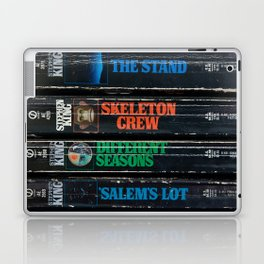 Stephen King Well-Worn Paperbacks Laptop & iPad Skin