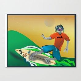 Surfer Alien Canvas Print