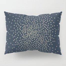 Dots Illusion - Gold and Navy Blue Pillow Sham