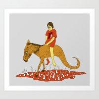 voyage Art Prints featuring Voyage by Skinny Gaviar