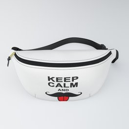 Funny Keep calm and mustache Fanny Pack