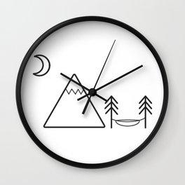 Mountain Hammock  Wall Clock