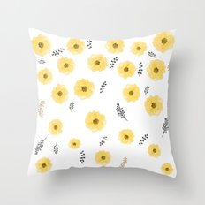 Royal baby florals Throw Pillow