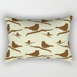 Brown Bird Silhouette Rectangular Pillow