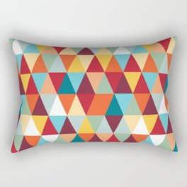 Geometric Color #abstract #bright #triangles Rectangular Pillow