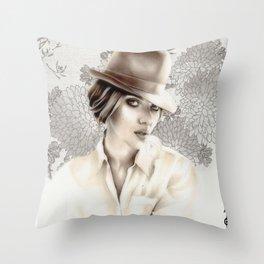 Scarlett Johansson (fanart) Throw Pillow