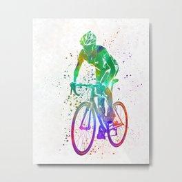 Woman triathlon cycling 05 Metal Print