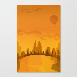 Autumn in a city Canvas Print