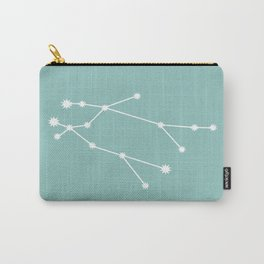 Gemini Zodiac Constellation - Teal Carry-All Pouch