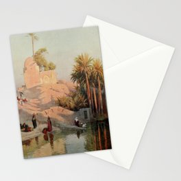 Kelly, Robert Talbot (1861-1934) - Egypt 1903, In the oasis of Fayum Stationery Cards