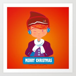 "Mikel AlfsToys say: ""Merry Christmas""  Art Print"