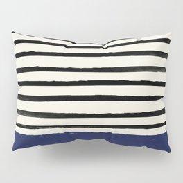 Navy x Stripes Pillow Sham